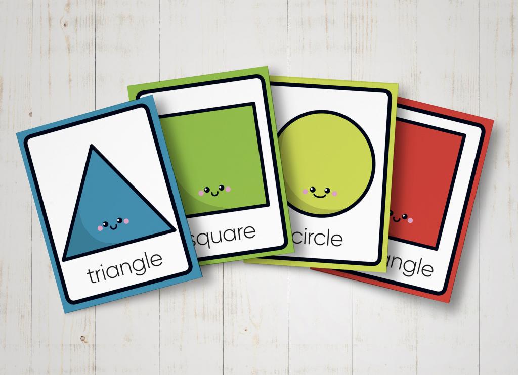 Shape Flashcards Printable Geometric Shapes Preschool | Etsy | Geometric Shapes Printable Flash Cards