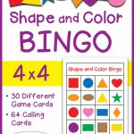 Shapes And Colors Bingo Game Cards 4X4   Sallieborrink | Shapes Bingo Cards Printable
