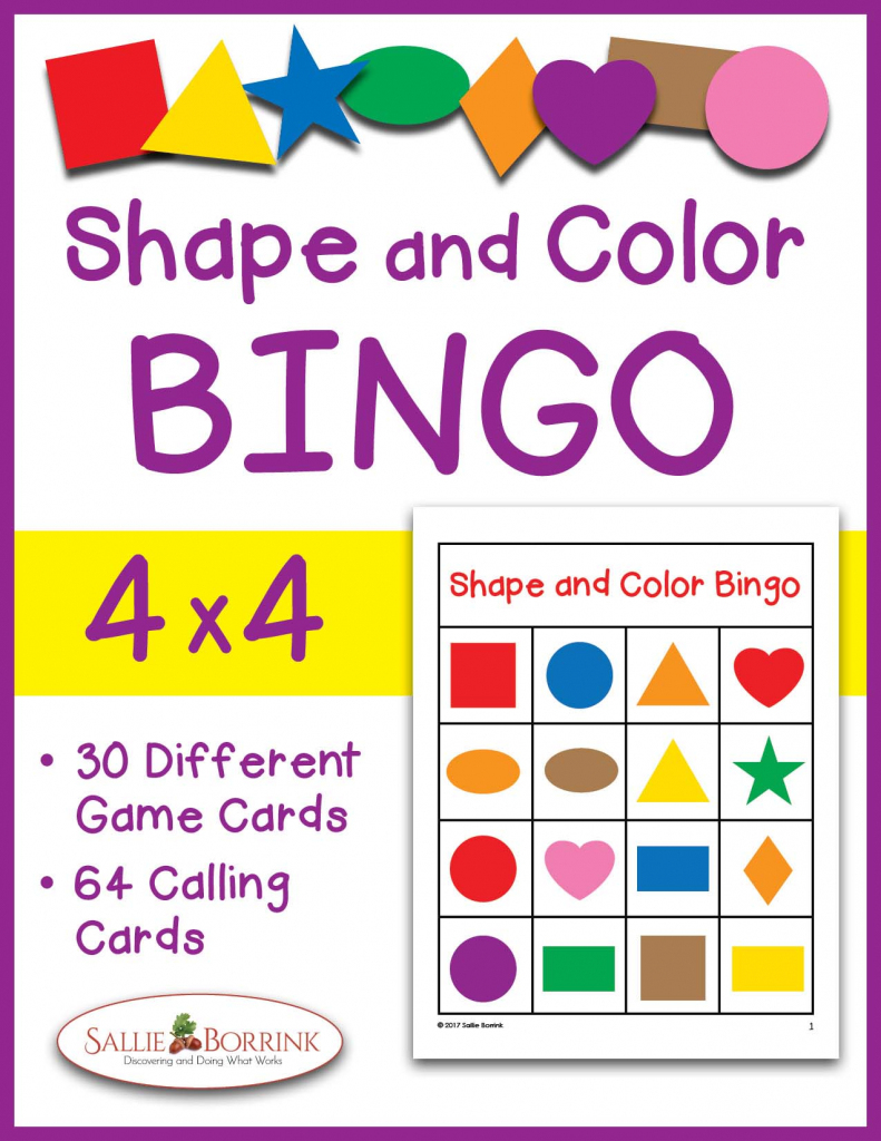 Shapes And Colors Bingo Game Cards 4X4 - Sallieborrink | Shapes Bingo Cards Printable