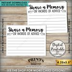 Share A Memory Or Words Of Advice Graduation Advice, Write A | Free Printable Graduation Advice Cards
