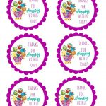Shopkins Thank You Labels Via Mandy's Party Printables | Free | Free Printable Shopkins Thank You Cards