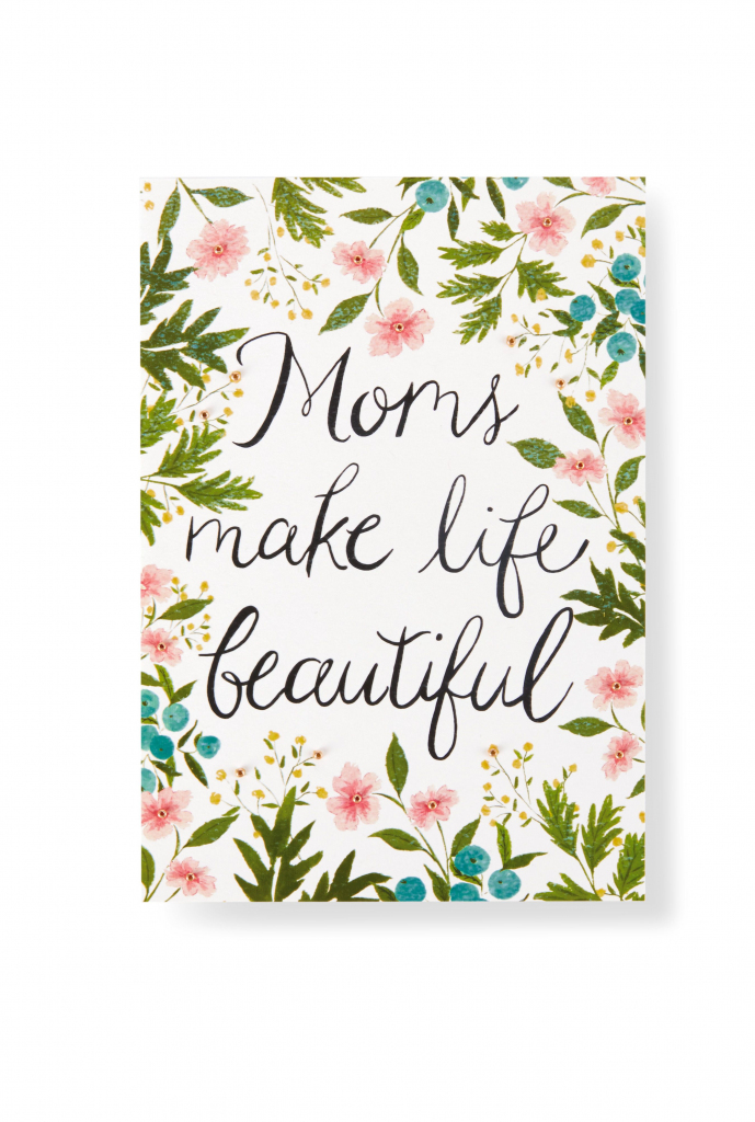 Show Mom How Much You Care With This Pretty Floral-Inspired Mother's | Hallmark Printable Mothers Day Cards
