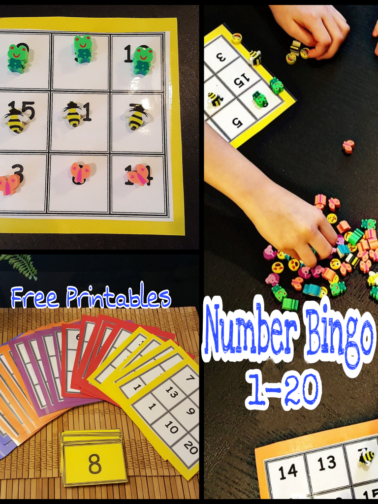 Simple Math Bingo For Young Kids. Numbers 1-20, This Game Is A Great | Math 24 Printable Cards