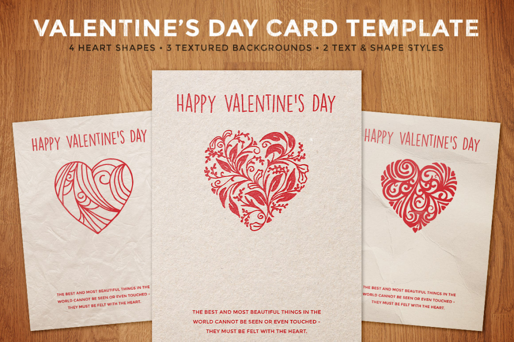 Simple Valentine's Day Card Template | Design Panoply | Valentine's Day Card Printable Templates