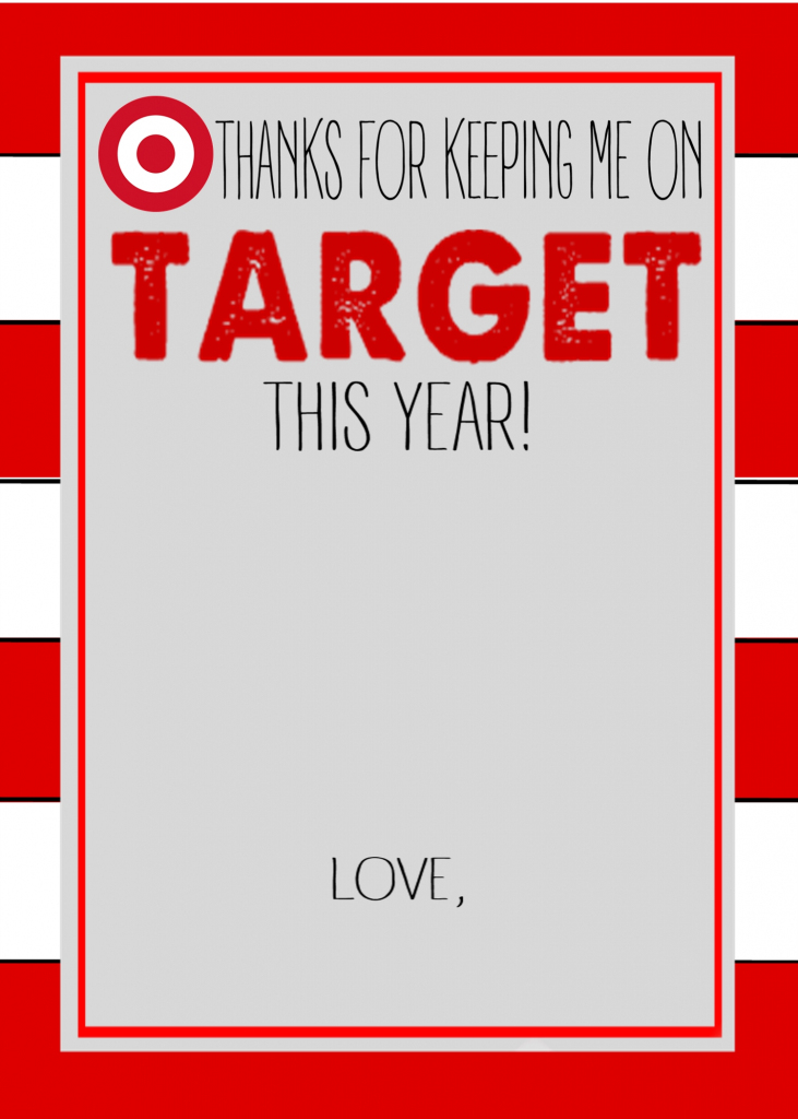 Six Instant Download Teacher Gift Card Printables - Crisp Collective | Printable Target Gift Card