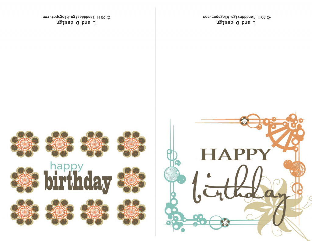 Small Printable Birthday Cards | Zwonzorg | Free Printable Happy Birthday Cards For Dad