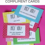Smile It Forward Kindness Activities For Kids With Free Printables | Printable Compliment Cards For Students