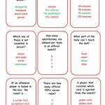 Soccer/football Board Game (2)   Question Cards Worksheet   Free Esl | Soccer Referee Cards Printable