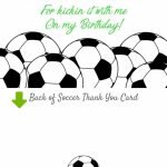 Soccer Invitation, Matching Thank You Card, Soccer Thank You, Girls | Football Thank You Cards Printable