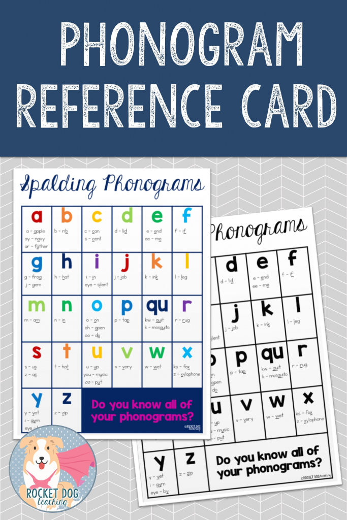 Spalding Phonogram Reference Card | Education | Phonograms, Spalding | Spalding Phonogram Cards Printable