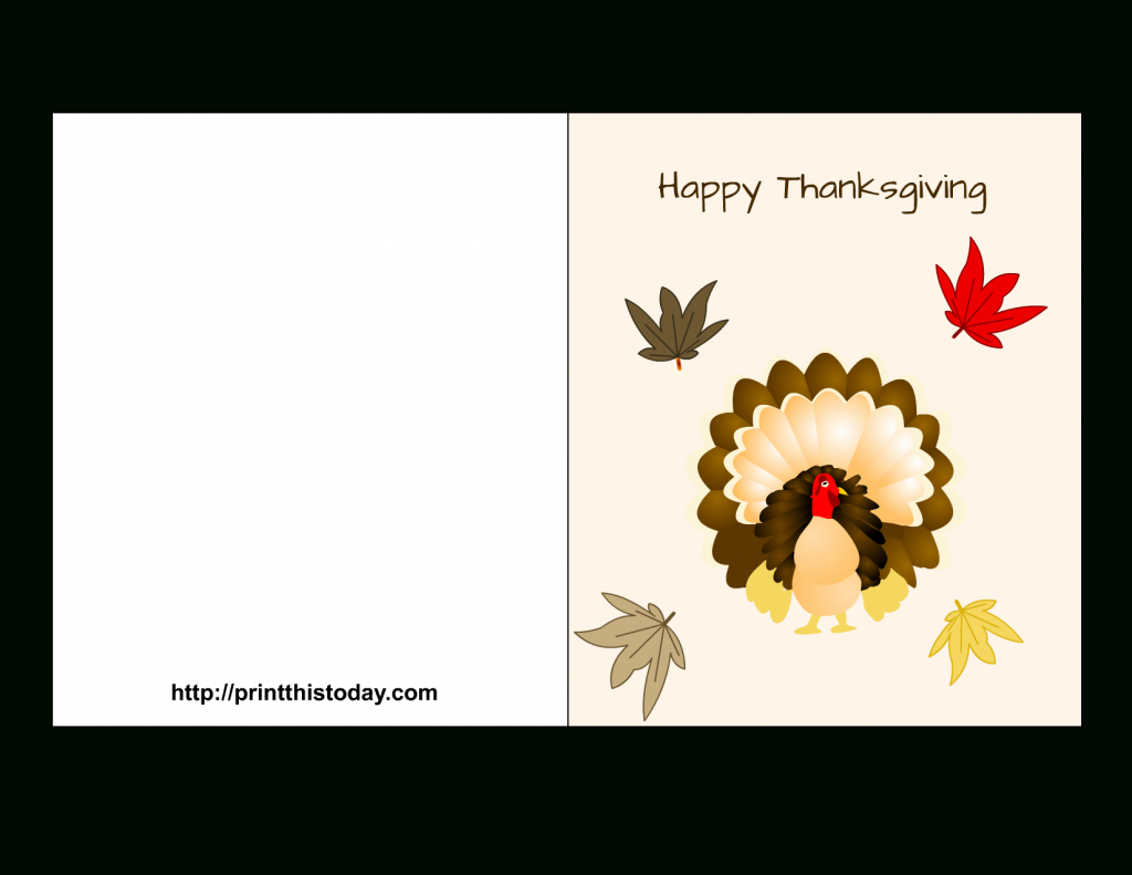"Special ""happy Thanksgiving Cards"" Printable For Parents & Friends 