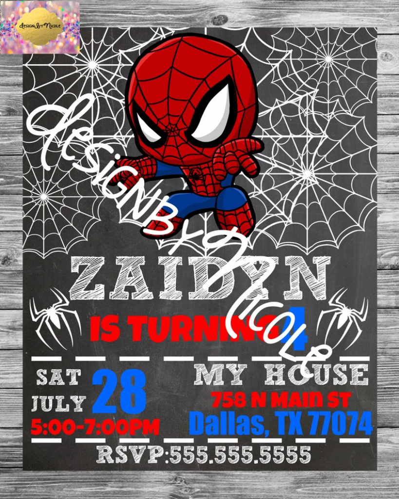 Spiderman Birthday Party Invitation And Thank You Card | Etsy | Spiderman Thank You Cards Printable