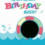 Splish Splash   Free Printable Summer Party Invitation Template | Free Printable Pool Party Invitation Cards