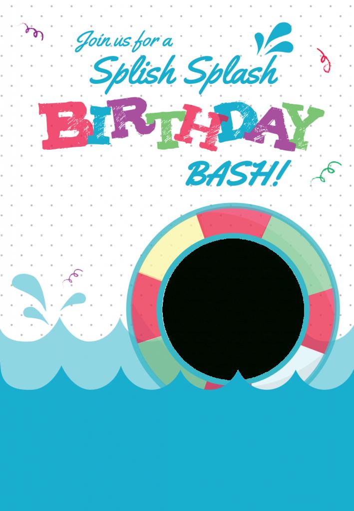 Splish Splash - Free Printable Summer Party Invitation Template | Free Printable Pool Party Invitation Cards