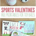 Sports Valentines Printables   Candy Free Valentine's Day Ideas | Free Printable Football Valentines Day Cards