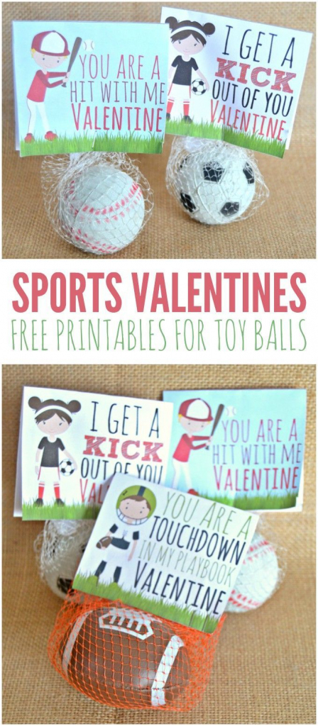 Sports Valentines Printables - Candy Free Valentine's Day Ideas | Free Printable Football Valentines Day Cards