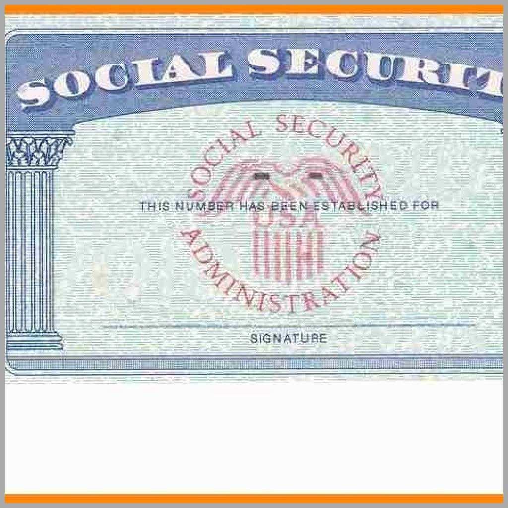 Ssn Card Template - Kleo.bergdorfbib.co | Printable Social Security Card Template