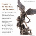 St. Michael The Archangel Prayer | The Catholic Company | St Michael Prayer Card Printable