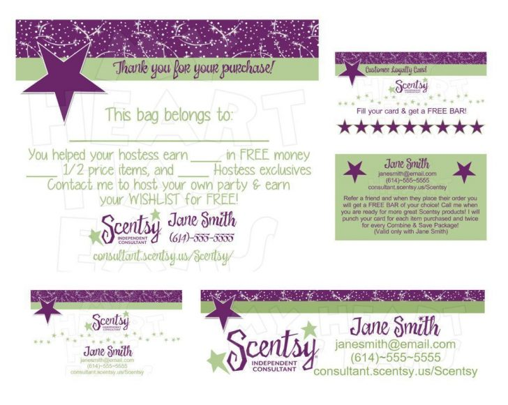 Free Printable Scentsy Business Cards