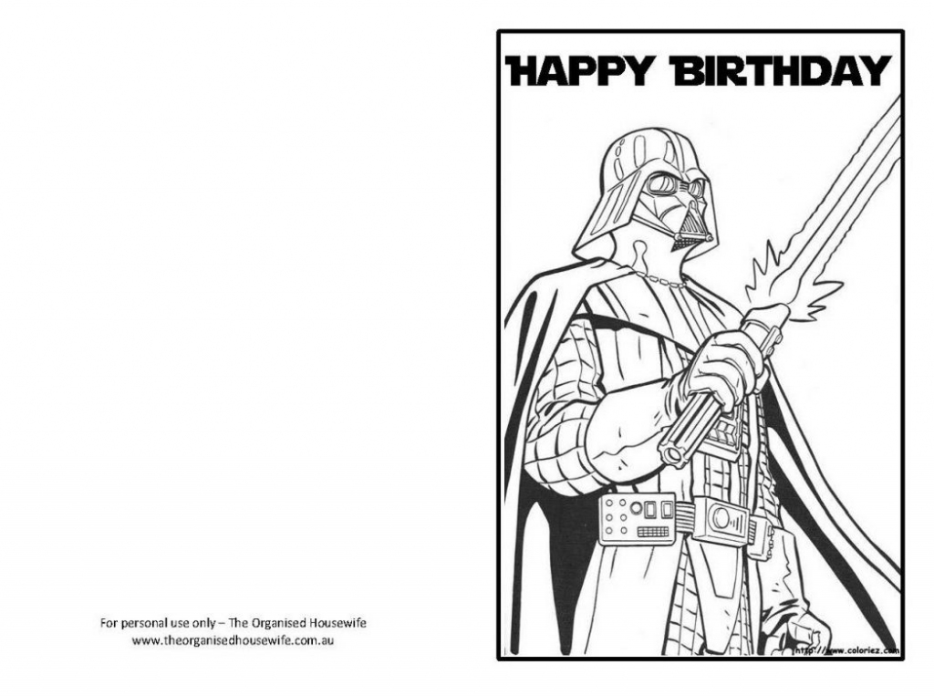 Star Wars Happy Birthday Card Coloring Pages | Projects To Try | Star Wars Birthday Card Printable