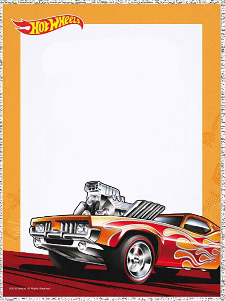 Start Revvin' Your Engine For Muhamad Ammar's 7Th Birthday Party | Hot Wheels Birthday Cards Printable