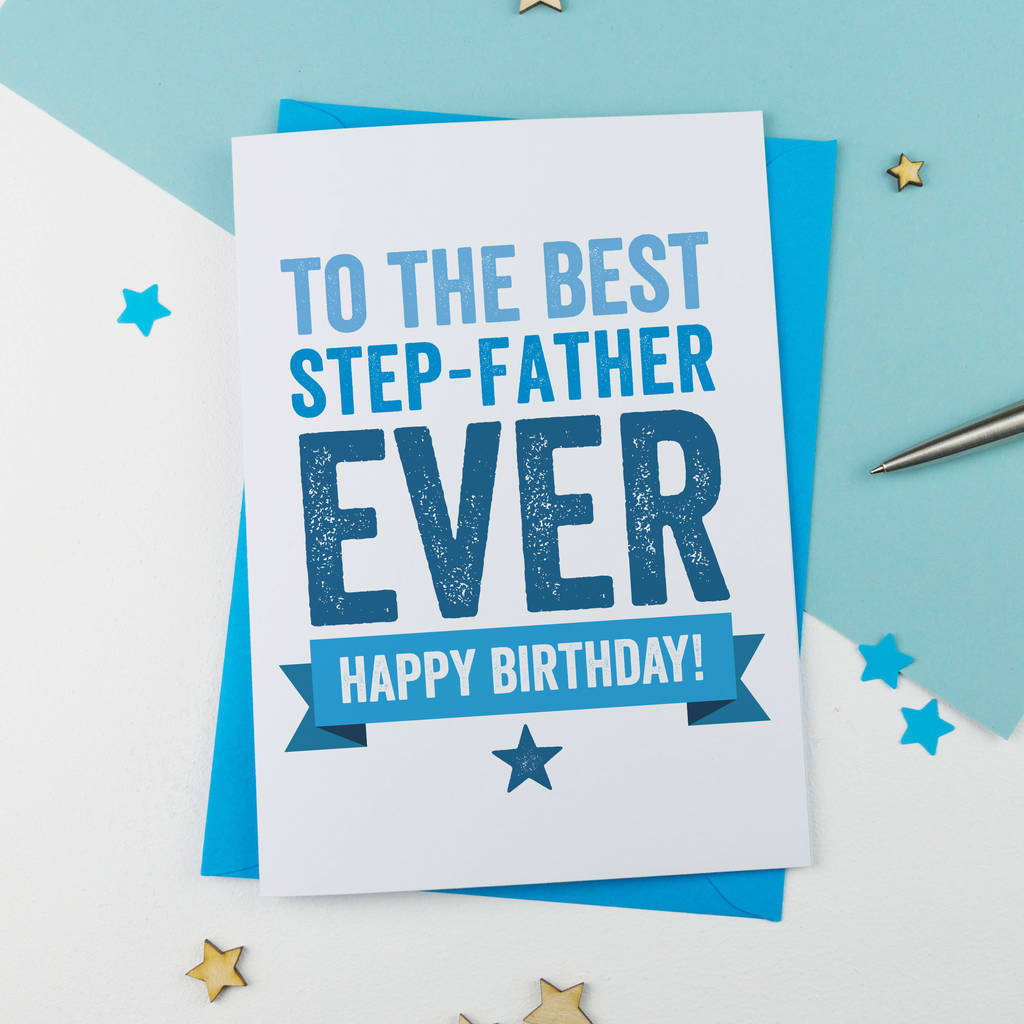 Step Father Or Step Dad Birthday Carda Is For Alphabet | Printable Father Birthday Cards