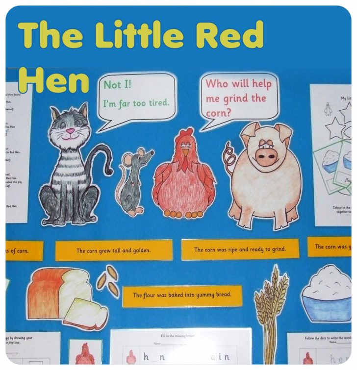 Little Red Hen Sequencing Cards Printable