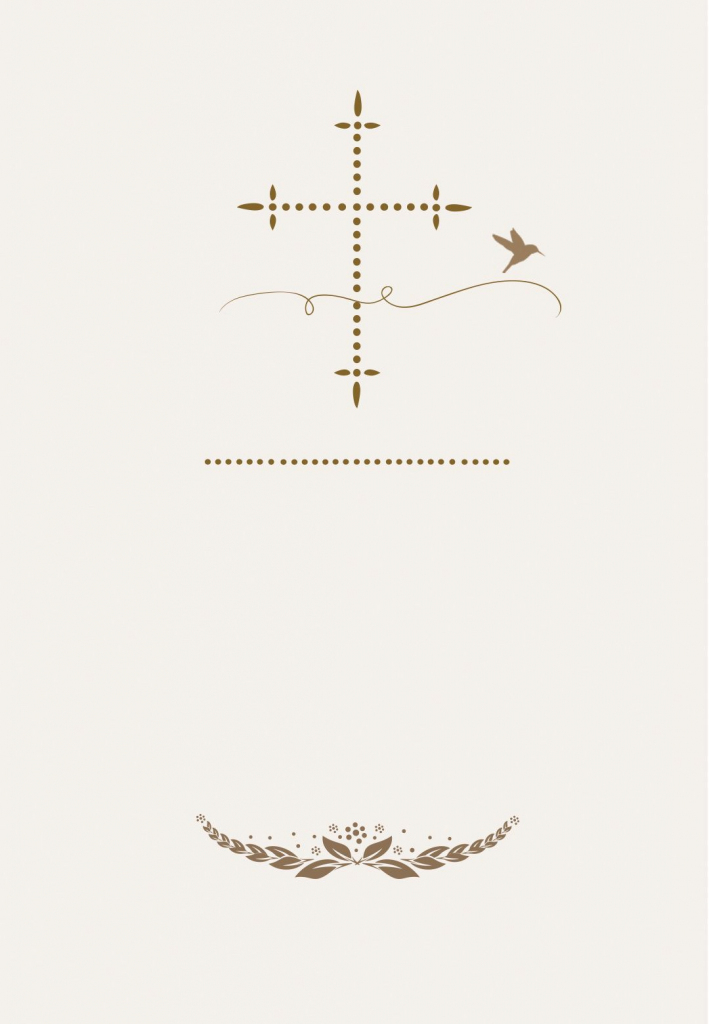 Stylized Cross - Free Communion Invitation Template | Greetings | First Holy Communion Cards Printable Free