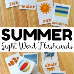 Summer Printable Sight Word Flashcards   Look! We're Learning! | Sight Words Flash Cards Printable