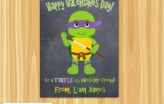 Superhero Valentine Day Card For Kids | Valentines Day Classroom | Teenage Mutant Ninja Turtles Printable Valentines Day Cards