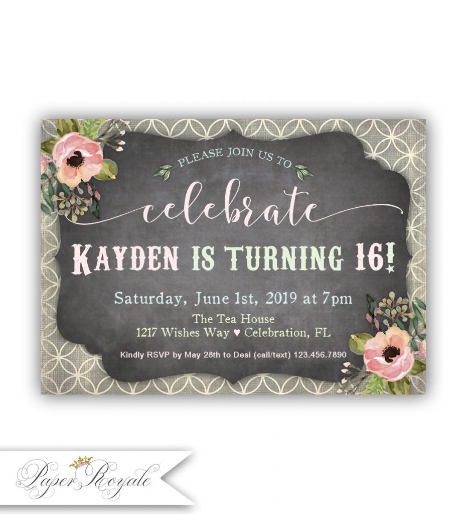 Sweet 16 Birthday Invitations Quinceañera Spanish | Etsy | Printable Quinceanera Birthday Cards