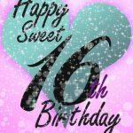 Sweet 16   Free Printable Birthday Card | Greetings Island | Printable Quinceanera Birthday Cards