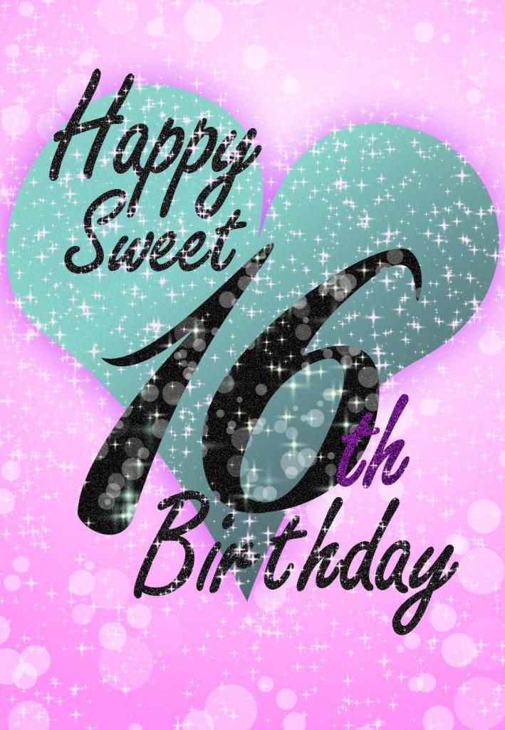 Sweet 16 - Free Printable Birthday Card | Greetings Island | Printable Quinceanera Birthday Cards