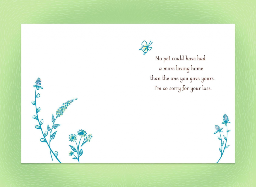 Sympathy Card For Pet Loss - Kleo.bergdorfbib.co | Printable Sympathy Card For Loss Of Dog