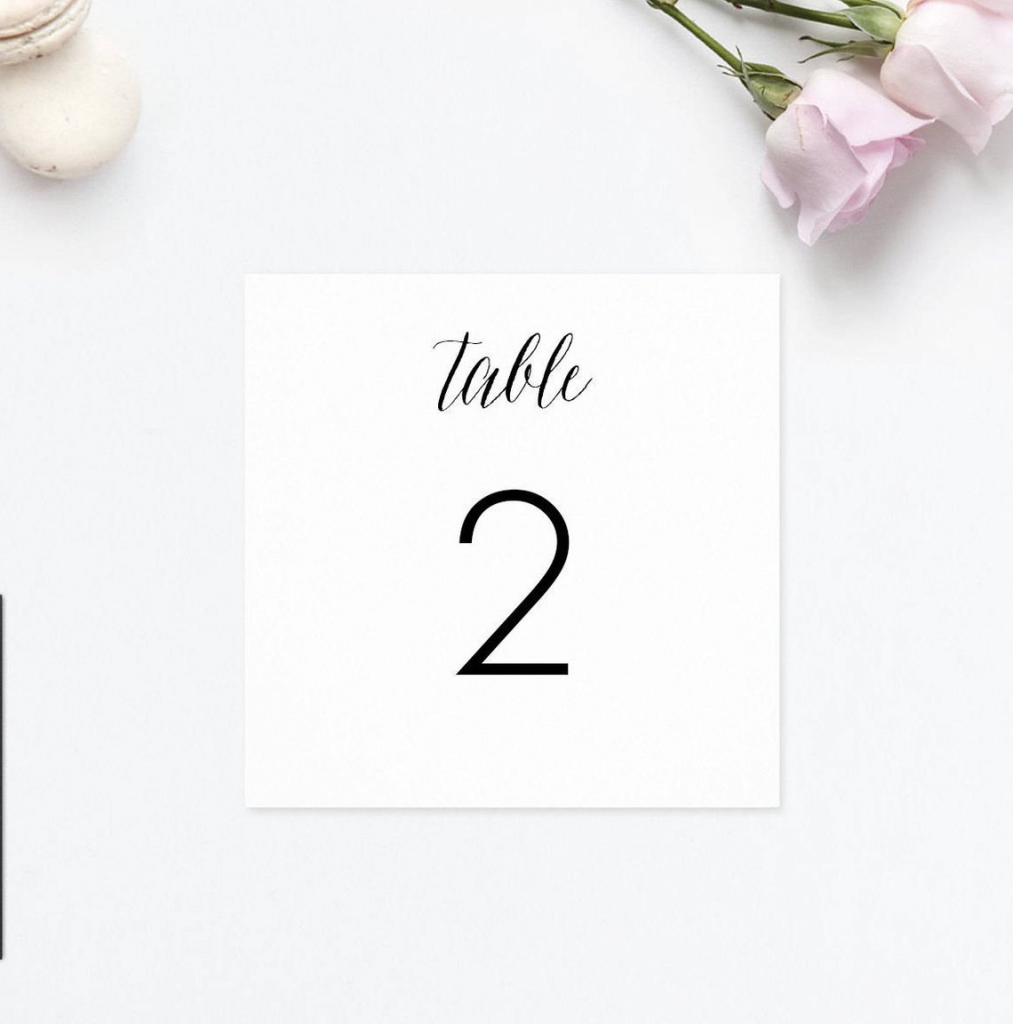 Table Numbers Wedding Printable Table Number Cards Table | Etsy | Printable Table Number Cards