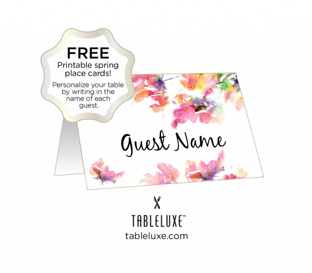 Tableluxe Printable Spring Place Cards | Free Printable Place Cards