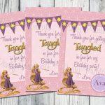 Tangled Favor Bag Tags, Printable, Rapunzel Birthday Party Thank You | Printable Rapunzel Birthday Card