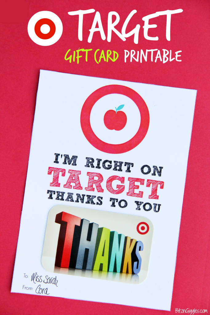 Target Gift Card Printable - Teacher Appreciation - Bitz & Giggles | Printable Target Gift Card