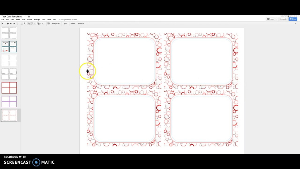 Task Cards With Google Slides - Youtube   Free Printable Blank Task Cards