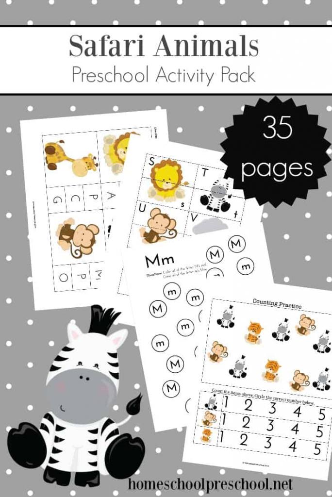 Teach Preschool With Free Jungle Animal Printables | Animal Matching Cards Printable