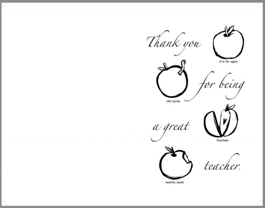 Teacher Appreciation Coloring Pages Free - Mauracapps | Free Printable Teacher Appreciation Cards To Color