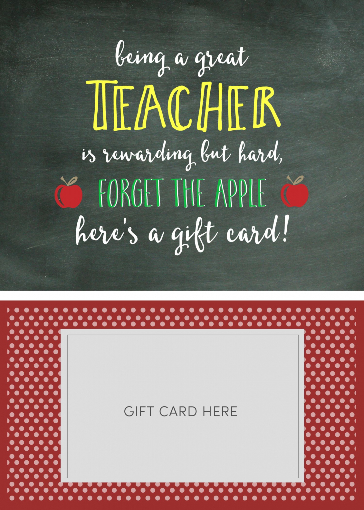Teacher Appreciation Gift Card Holder | Gifts For Teachers | Teacher | Teacher Appreciation Gift Card Holder Printable