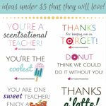 Teacher Appreciation Printables   Gifts Under $5!   Fun Cheap Or Free | Free Teacher Appreciation Week Printable Cards