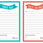 "Teacher Appreciation Week – Free Printable ""Thank You"" Notes 