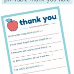 Teacher Appreciation Week Printable Thank You Note | Teacher Gift | Thank You Card To Teacher Printable