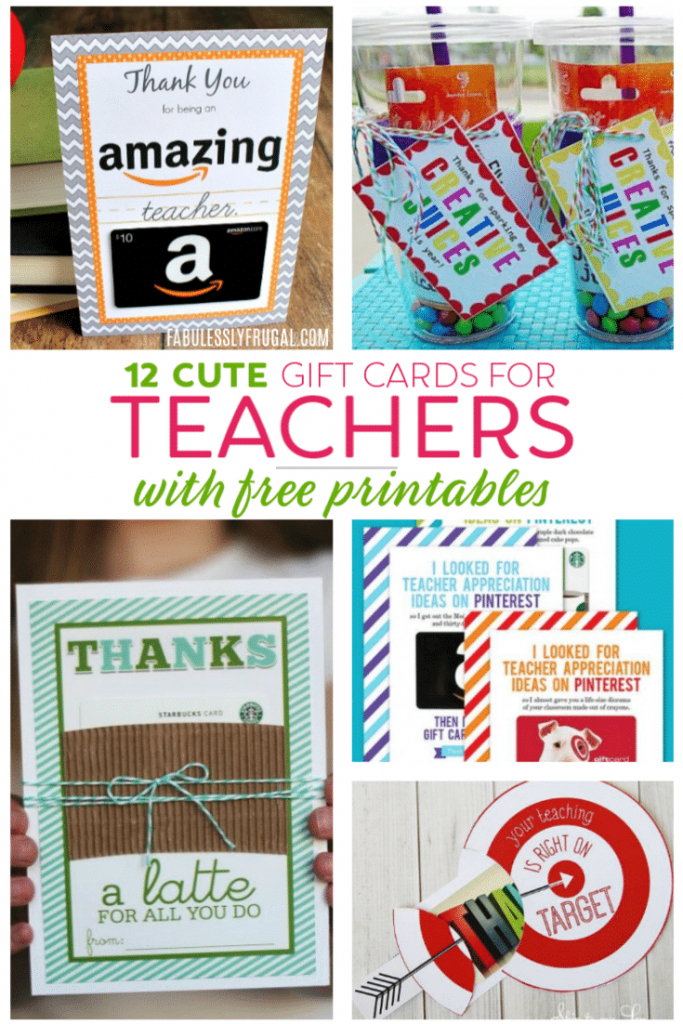 Teacher Gift Card Ideas & Gift Card Holder Printables - Fabulessly | Teacher Appreciation Gift Card Holder Printable