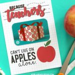Teacher Gift Card Printable | Teacher Appreciation | Teacher Gifts | Printable National Teacher Appreciation Week Cards