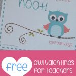Teacher Mama: Free Printable Owl Valentines For Teachers   Boy Mama | Free Printable Owl Valentine Cards