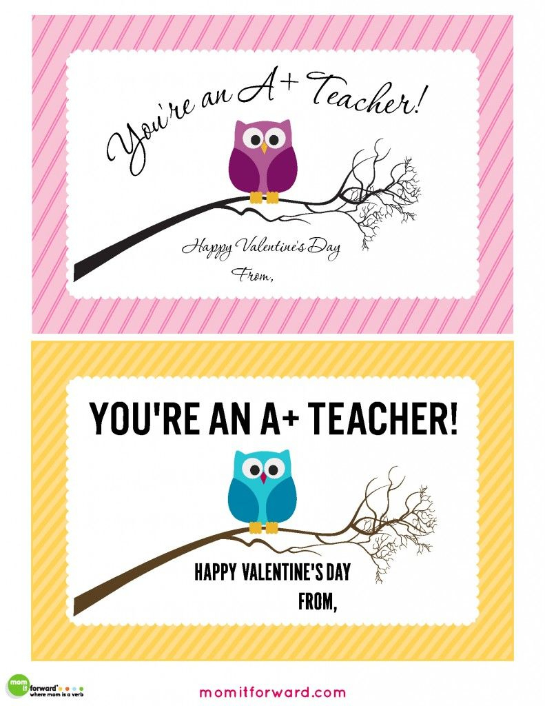 Teacher Valentines Day Cards Printable | Gifts | Teacher Valentine | Teachers Day Card Printable