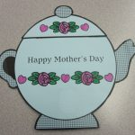 Teapot Mothers Day Card Printable Template | Card Template | Teapot Mother's Day Card Printable Template